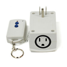Wireless Remote Control Outlet Plug for Lights Lamps 13A 80ft Range Grounded