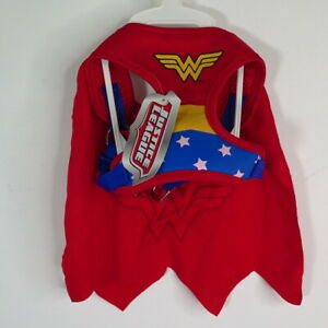 Justice League Dog Wonder Woman Cape and Harness Size XS NWT