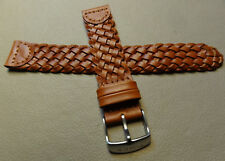 Mens Timex T2N755 Brown Braided Woven Weekender Casual Leather 18mm Watch Band