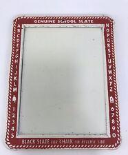 Vintage Transogram Genuine School Slate & Chalkboard Italy Mid Century Alphabet
