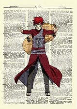 Gaara Ninja Anime Dictionary Art Print Poster Picture Japan Book Manga Naruto