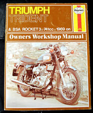 buy trident motorcycle service repair manuals ebay rh ebay co uk 1974  triumph trident 750 1971 triumph trident