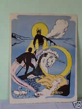 VINTAGE SIGNED & NUMBERED MYSTERY ARTIST FAIRY TALE FANTASY ART LITHOGRAPH M95