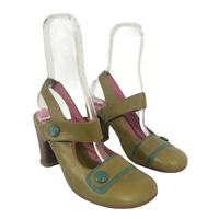 John Fluevog Soprano Wilhelmina Size 9 Mary Jane Heel Pump Shoes
