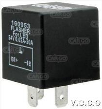 160953 24 VOLT 24V 3 PIN indicatore LED FLASHER UNIT 6,3 mm morsetti