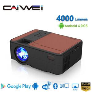 Tragbar HD Smart Wifi Projektor Mini Android Heimkino 1080p Filme USB HDMI LED