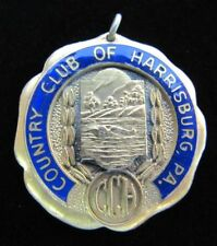 Orig Old COUNTRY CLUB OF HARRISBURG PA Medallion Golf CC Sports Award Fob Ornate