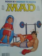 Vintage MAD Magazine - April 1986 - Rocky IV - Highway to Heaven- Wrestling ++++