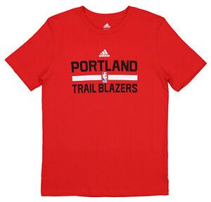 Adidas NBA Youth (8-20) Portland Trailblazers Practice Short Sleeve T-Shirt