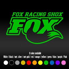 """6"""" Fox Racing Shox Shocks Dirt Bike Diecut Bumper Car Window Diecut Vinyl Decal"""