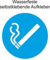 ab 5cm Hinweis Rauchen erlaubt Gebäude Aufkleber Rauchen gestattet