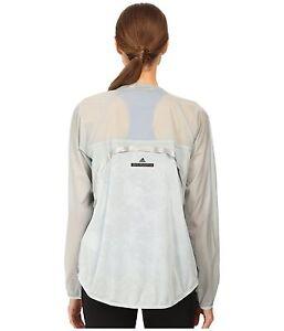 adidas by Stella McCartney Women's Cycling Jacket Gray Soft Nylon Size  M , L