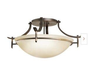 Kichler Lighting-Olympia - Three Light Semi-Flush Mount  Olde Bronze