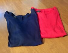 2 TALBOTS NWOT BUTTON BACK KNIT TEES/TOPS XL