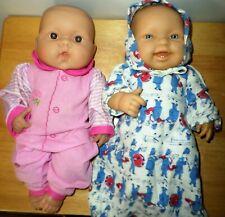 Lot Berenguer Dolls Lots to Love Blue Eyes Teeth Brown Eyes Open Mouth Dressed