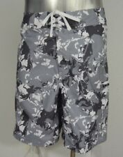 Under Armour men's board surf shorts gray & white 36 new