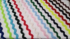 Ric Rac Jumbo Zig Zag Braid Trimming 20 Colours Listed Size 13mm at Widest Point
