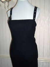 Vintage,Black,Studded Strap Versace Cocktail/Wiggle Dress, Size12 (Euro44)