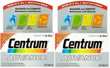 2 X Centrum Advance Multivitamin Tablets - 30 Tablets