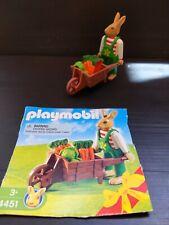 Playmobil Easter Bunnies 4451 BUNNY with WHEELBARROW Retired. N1