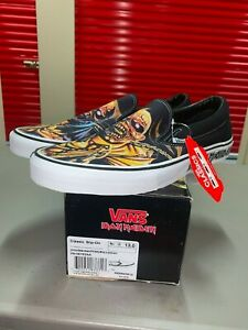 Vans Iron Maiden Killers Shoes Sneakers Size Mens 13 Slip On New w Box