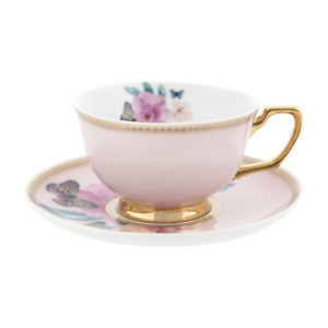 NEW Cristina Re Teacup Butterfly Garden New Bone China Partyware Gifts School