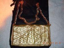 CHANEL  Authentic Vintage  RARE  Gold Metallic WOC Elegant Flap bag