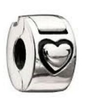 AUTHENTIC CHAMILIA STERLING SILVER HEART LOCK NEW BEAD LOVE MB-2 SPACER NO LOGO