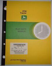 John Deere 2750 Tractor Flat Rate (repair time) Manual Frm-4106 Jd original