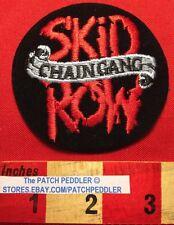Vtg 90's Jacket Patch SKID ROW CHAIN GANG Glam Heavy Metal Rock & Roll Band 5DA7