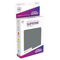 (60) Ultimate Guard SUPREME UX Japanese Size Card Sleeves - Matte DARK GRAY/GREY