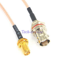 SMA Female to BNC Cable female Jack Antenna Extension Pigtail bulkhead O-ring