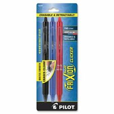 Pilot Frixion Clicker Erasable Gel Pens Fine Point Assorted Ink 3 Pack 22477