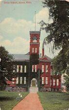 C67/ Akron Summit County Ohio Postcard 1914 Grace School Building
