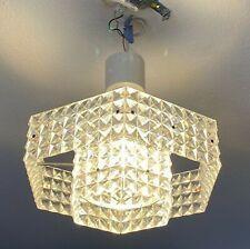 Paar Pendelleuchte 70er ERCO Gangkofner Design Plexiglas Lampe Deckenlampe