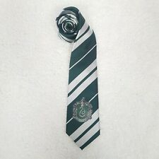 Harry Potter Costume Tie Kids Mens Necktie Slytherin Snake Crest Stripe Green