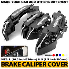 4PCS 3D Black Style Car Universal Disc Brake Caliper Covers Front&Rear Kit L+S