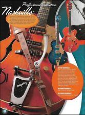 Gretsch G6120 Nashville + G6122 Country Classic guitars advertisement 8 x 11 ad