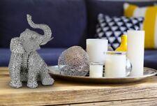 Modern Dekorativ Dekofiguren Tischdeko Elefanten Figur Silber