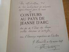 CONTEURS PAYS JEANNE D'ARC LITTERATURE ORALE LEGENDE COUTUME LA MOTHE CHATENOIS