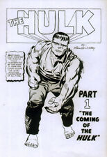 THE INCREDIBLE HULK POSTER PAGE . 1962 ISSUE 1 ARTWORK . H6