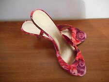 NINE WEST ROUSSYR FUCHSIA FABRIC SHOES SIZE 8.5M