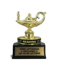 Reading Trophy- Student- Learning- Teaching- Desktop Series- Free Lettering