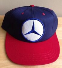 1970s 1980s MERCEDES BENZ TRUCKER BASEBALL CAP HAT, BLUE with RED BILL VINTAGE