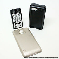 6500mAh Extended Battery for Samsung Galaxy S5 SV I9600 Gold Cover Charger