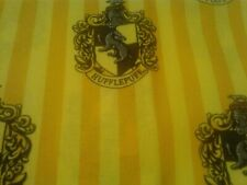 HARRY POTTER House of Hufflepuff Yellow Fabric Scrap Quilt Sew Craft
