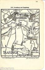 Danmark Svendborg Tåsinge 1910 orig. W-Karte + Wanderf. Christiansminde Nakskov