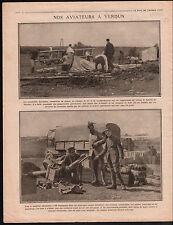 WWI Avions Aircraft Bataille de Verdun Poilus Munitions Obus  1916 ILLUSTRATION
