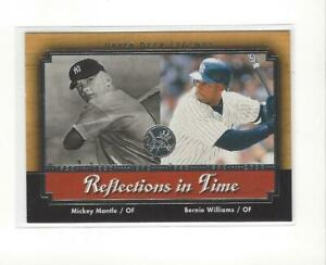 2001 UD Legends Baseball Reflections In Time Insert Singles - You Choose