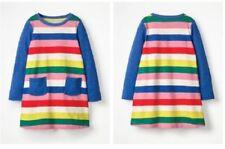 Girls Mini Boden Stripy Jersey Dress Multi Color SIZE 8-9 New